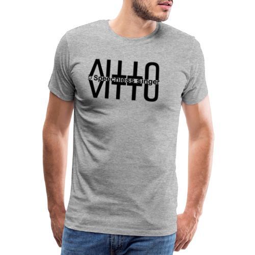 Mustat vitut vastakkain - Miesten premium t-paita