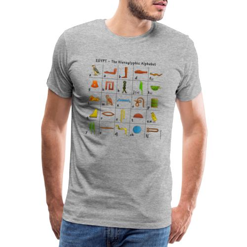 Ägyptisches Alphabet - Männer Premium T-Shirt