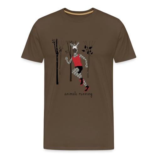 Zèbre running - T-shirt Premium Homme