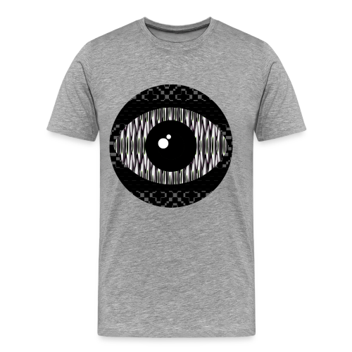 svart konstigt öga - Premium-T-shirt herr