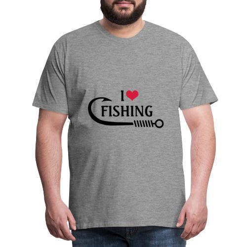 I Love Fishing - Maglietta Premium da uomo