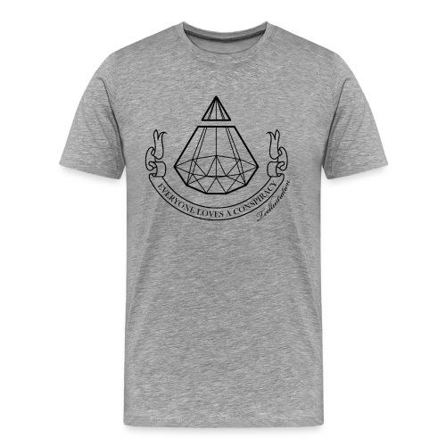 ConspiracyB png - Mannen Premium T-shirt