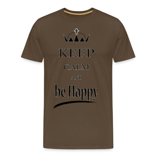 keep_calm and_be_happy-01 - Maglietta Premium da uomo