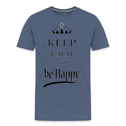 keep_calm and_be_happy-01 - Maglietta Premium da uomo