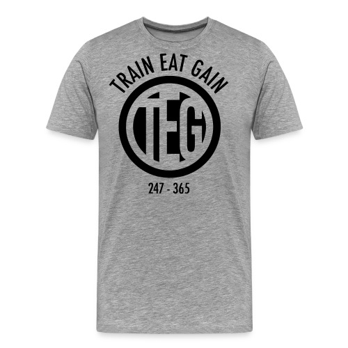 Train Eat Gain Circle - Men's Premium T-Shirt