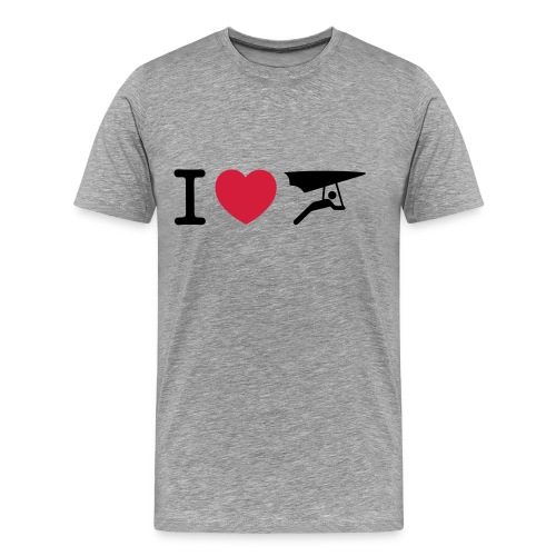 I love hanggliding - Mannen Premium T-shirt