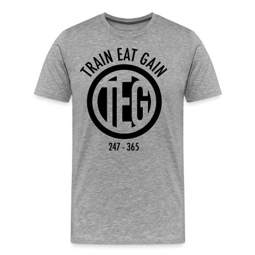 Train Eat Gain Circle - Men's Premium T-Shirt