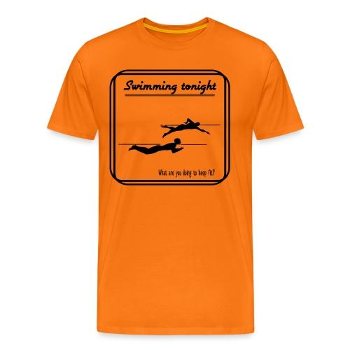 Swimming tonight - Miesten premium t-paita