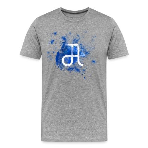 Glyphe Blau - Männer Premium T-Shirt