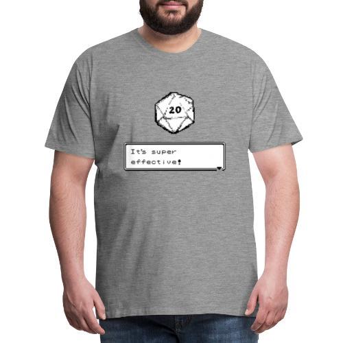Coup critique d20 super efficace! - D & D Dnd - T-shirt Premium Homme