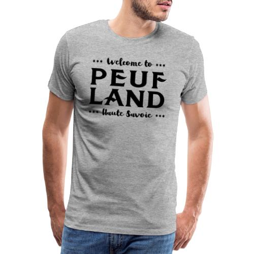 Peuf Land 74 - Black - T-shirt Premium Homme