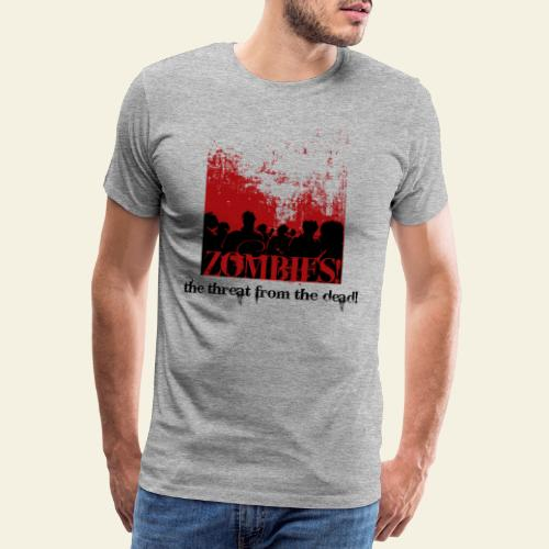 zombie horde - Herre premium T-shirt