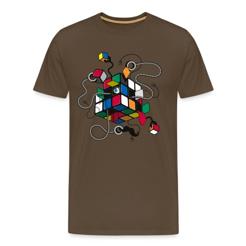 Rubik's Cube Robot Style - Men's Premium T-Shirt