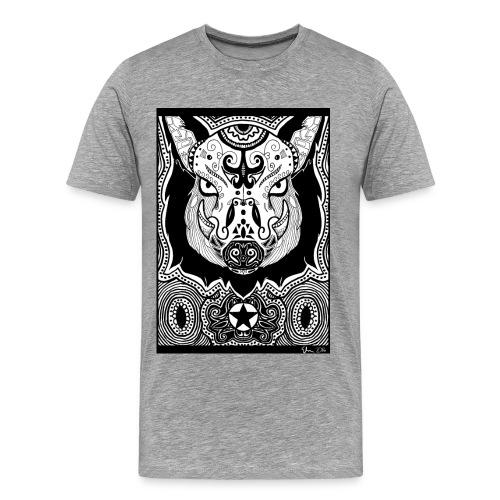 Psychedelic Boar - Männer Premium T-Shirt