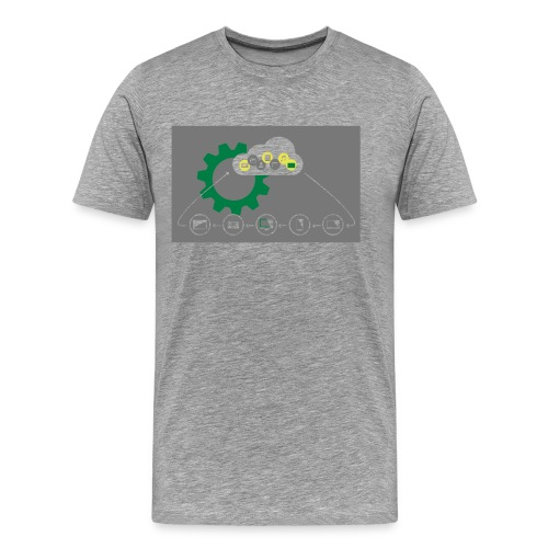 Pilvilaskenta - Miesten premium t-paita
