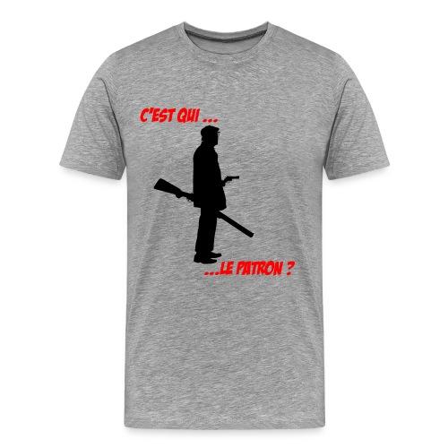 c est qui le patron bicolore - T-shirt Premium Homme
