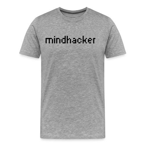 mindhacker text - Men's Premium T-Shirt
