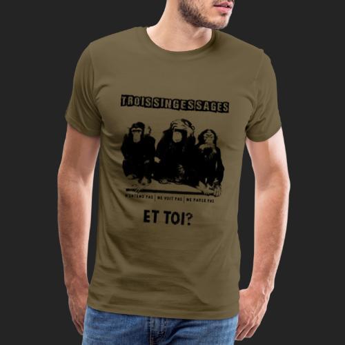 Three wise monkeys - T-shirt Premium Homme