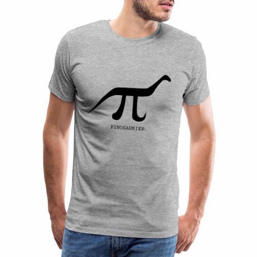 funny nerd geek, pi day, pi, Pinosaur - Men's Premium T-Shirt
