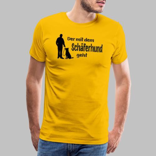 Der mit dem Schäferhund geht - Black Edition - Männer Premium T-Shirt