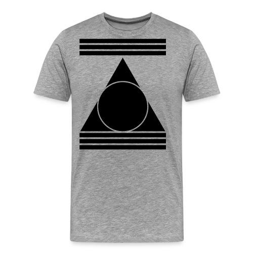 Minimal Techno Goa Pyramide Abstrakt Form Geschenk - Männer Premium T-Shirt