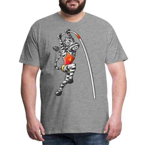 Pole Vault Zebra - Men's Premium T-Shirt