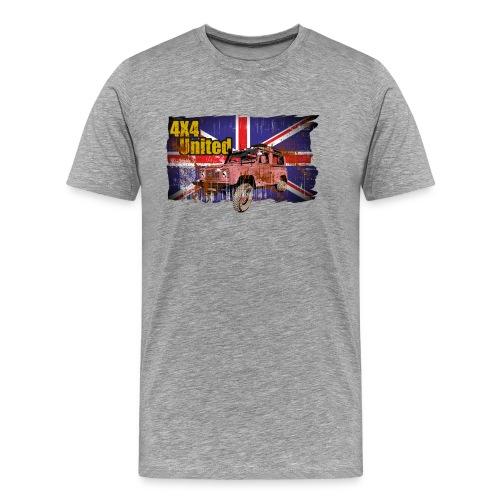 union jack 4x4ohne rand - Männer Premium T-Shirt