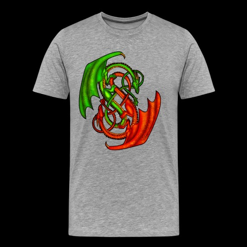Entwined Dragons - Men's Premium T-Shirt