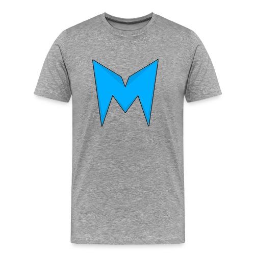 Tee-shirt Madcrow gris & logo bleu sur le torse - T-shirt Premium Homme