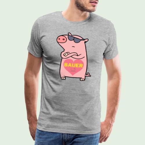 Ich liebe Bauer - Männer Premium T-Shirt