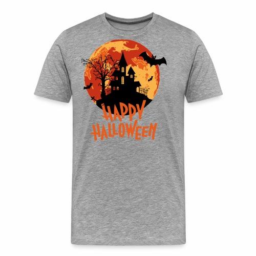 Bloodmoon Haunted House Halloween Design - Männer Premium T-Shirt