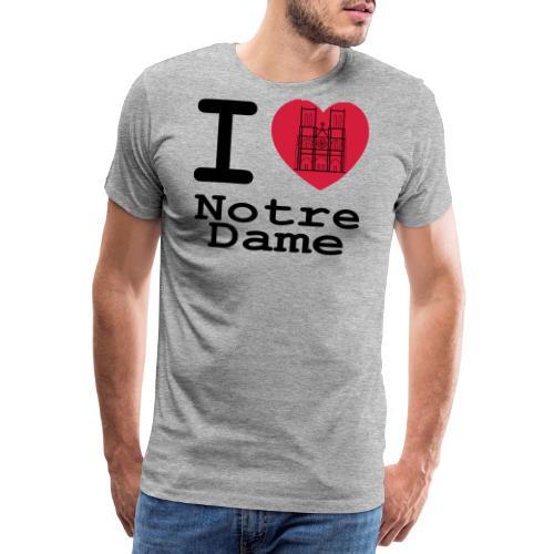 I love Notre Dame - Mannen Premium T-shirt