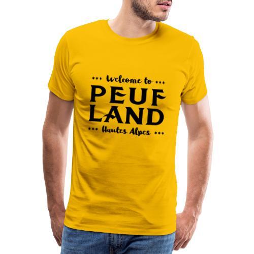 Peuf Land 05 - Hautes-Alpes - Black - T-shirt Premium Homme