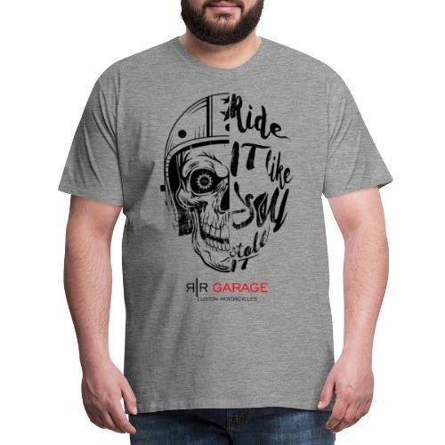 RR Garage Skull rider - Maglietta Premium da uomo