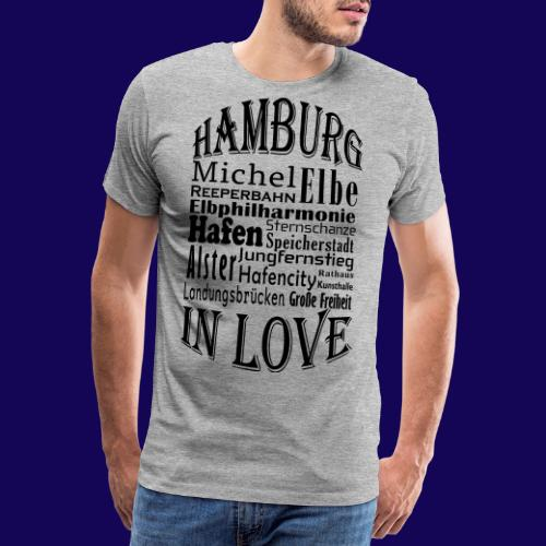 Hamburg in Love: Die Highlights der Hansestadt - Männer Premium T-Shirt