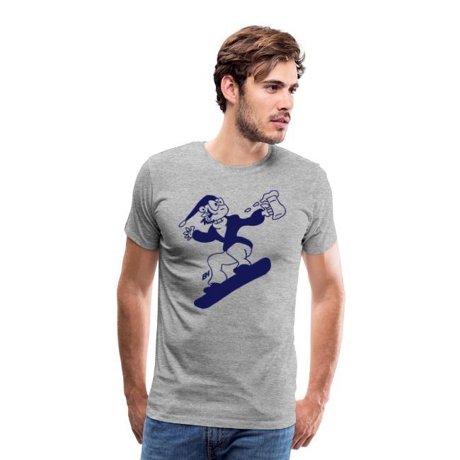 Snowboard avec une bière - T-shirt Premium Homme