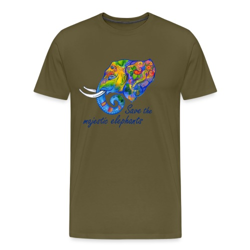 Save the majestic elephants - Männer Premium T-Shirt