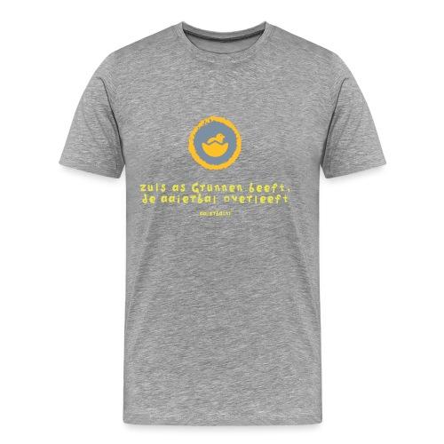 grunn beeft aaierbal overleeft - Mannen Premium T-shirt