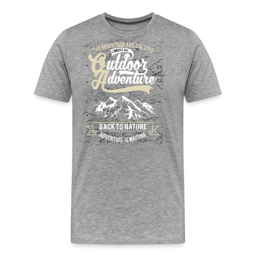 Natur Abenteuer - Männer Premium T-Shirt