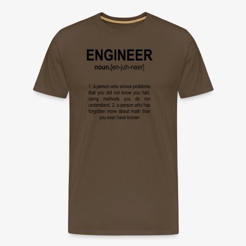 Engineer Def. 2 Black - T-shirt Premium Homme
