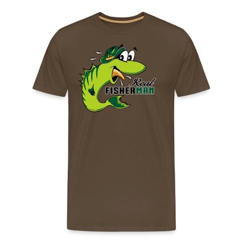 10-38 REAL FISHERMAN - TODELLINEN KALASTAJA - Miesten premium t-paita