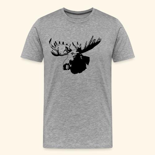 elch - elk - moose - jagd - jäger - Männer Premium T-Shirt