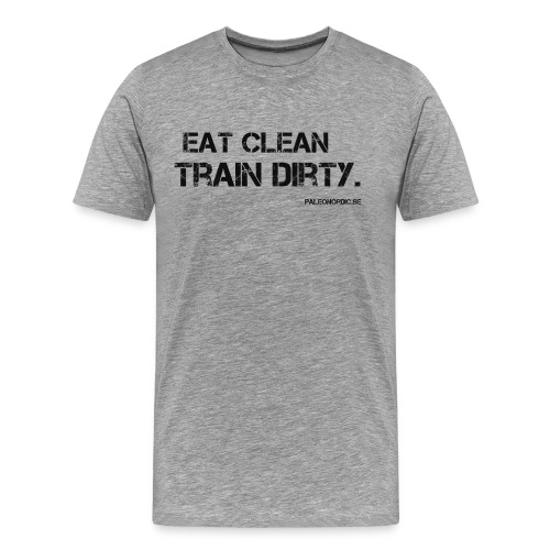 eatclean - Premium-T-shirt herr