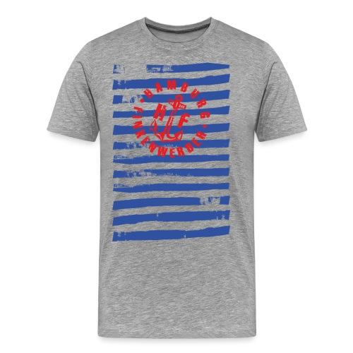 HF gestreift Shirt - Männer Premium T-Shirt