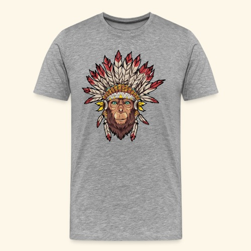 Tête de singe singes drôles - T-shirt Premium Homme