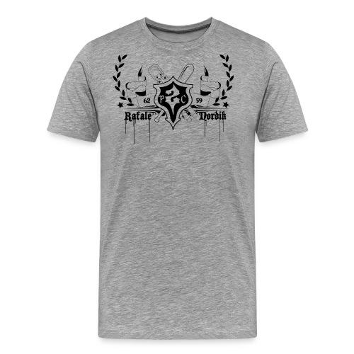P2C CREW BLASON BLACK - T-shirt Premium Homme