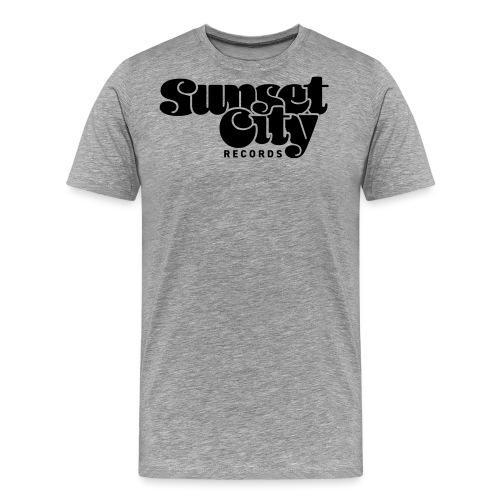 Sunset City Records Logo - Men's Premium T-Shirt