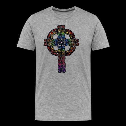 Celtic Cross - rainbow - Men's Premium T-Shirt