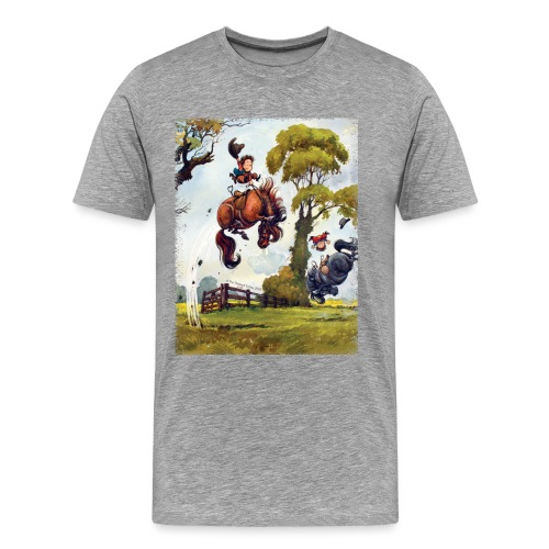PonyRodeo Thelwell Cartoon - Men's Premium T-Shirt