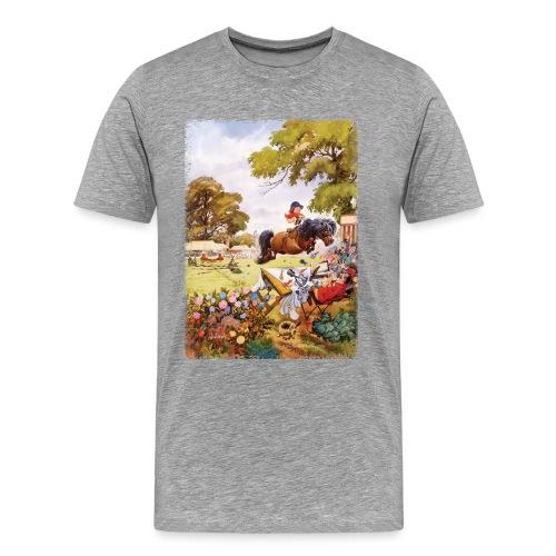 Thelwell Cartoon Pony Turnier - Männer Premium T-Shirt